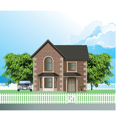 Residential detached house vector