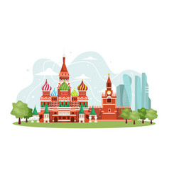 russia landmark vector image