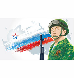 russian soldiers 3 vector image