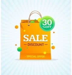Sale Label Paper Bag vector