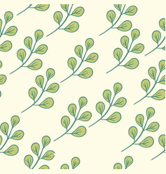 Seamless floral pattern green vector