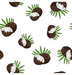 Seamless Pattern of Coconut vector image
