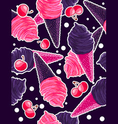 seamless sweet pattern with berry and gothic black vector image