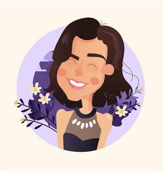 simple cartoon avatar vector image