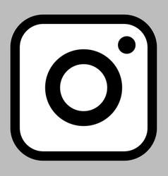 Square app-style camera icon logo symbol suitable vector
