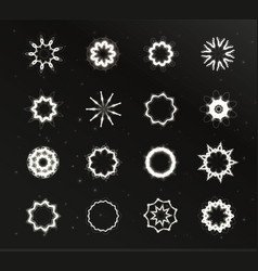 Star light unusual stars shape set glare vector