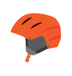strong helmet to protect the head accessory for vector image