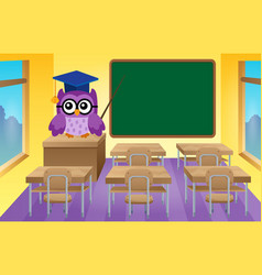 stylized school owl theme image 9 vector image