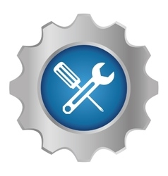 tecnical repair service emblem icon vector image