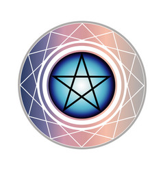 the pentagram vector image