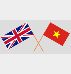 The vietnamese and british flags vector