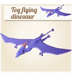 Toy flying dinosaur 5 Cartoon vector image