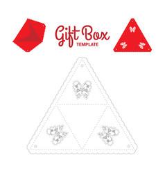 Triangle gift box vector