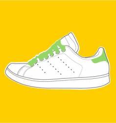 White-green shoe vector