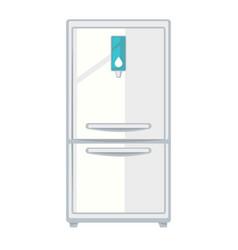 White modern fridge vector