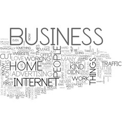 are you cut out to own a home business text word vector image