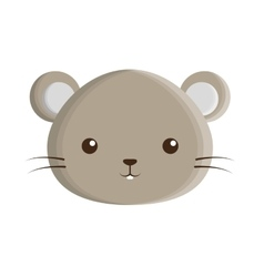 cute mouse isolated icon vector image vector image