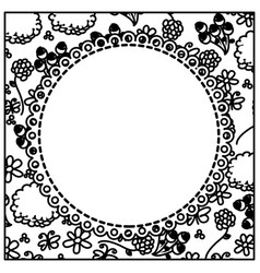 figure flowers background with white emblem icon vector image