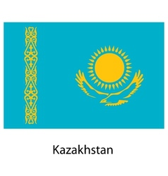 Flag of the country kazakhstan vector image vector image