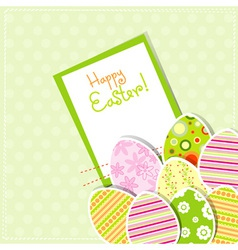 template egg greeting card vector image vector image