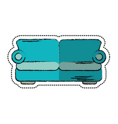 cartoon sofa comfor furniture design vector image