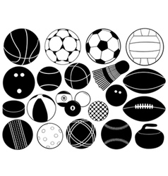 different game balls vector image