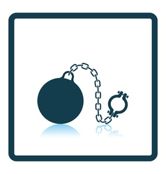 Fetter with ball icon vector image vector image