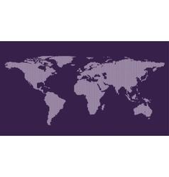 Grey Political World Map vector image vector image