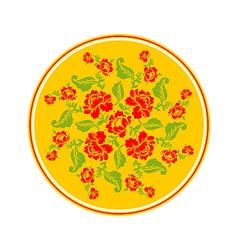 Russian national pattern Hohloma Retro Floral vector image
