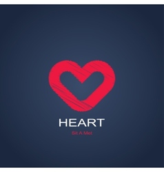 symbol of heart vector image vector image