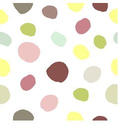 Watercolor hand painted polka dot seamless pattern vector