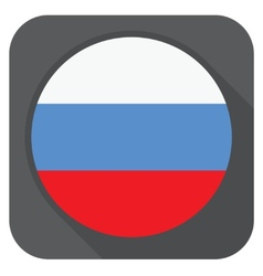 - russia flag button round shape with long s vector image