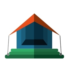 orange and blue tourism tent camping excursions vector image