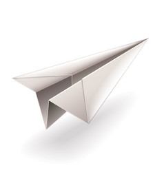 paper airplane isolated on white vector image