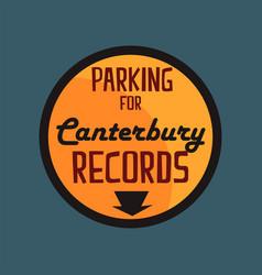 parking for canterbury records retro street vector image vector image