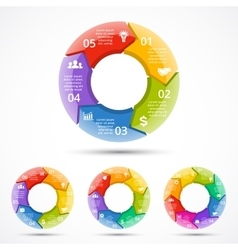 3d circle arrows infographic template vector
