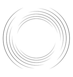 Abstract concentric circle spiral swirl twirl vector