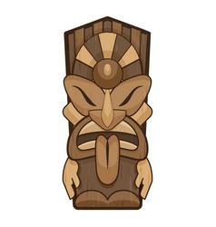Aztec tiki idol icon cartoon style vector