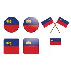 Badges with flag liechtenstein vector