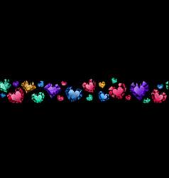 banner crystal hearts vector image