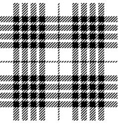 Black and white tartan plaid seamless pattern vector