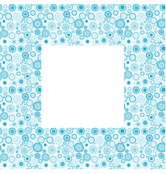 blue frame with doodle circles vector image
