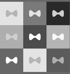 bow tie icon grayscale version of popart vector image