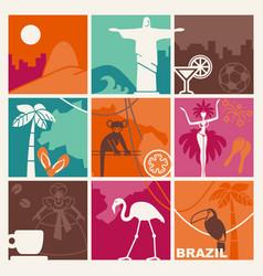 brazilian symbols vector image