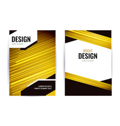 bright poster with light gold lines on dark vector image