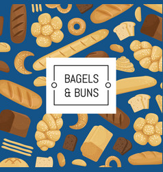 cartoon bakery elements background banner vector image