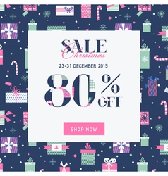 Christmas Sale Banner with Gifts vector image