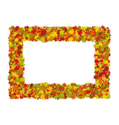 colorful autumn leaves frame vector image