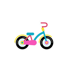 Colorful bicycle for children vector
