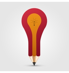 concept pencil with idea vector image